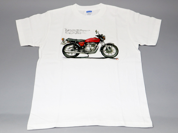CB400F T-SHIRT (LIGHT RUBY RED)