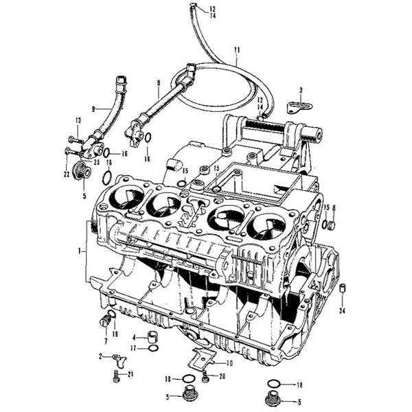e 22 crankcase honda cb750 four k series motorcycle parts store