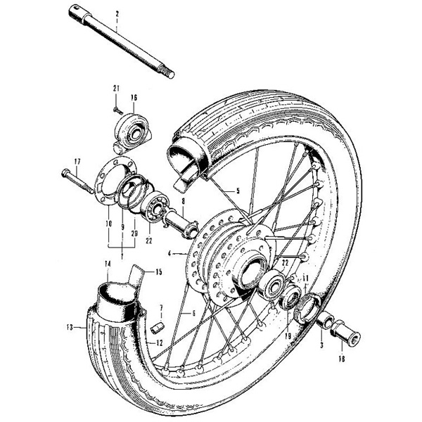 F 7 Front Wheel Honda Cb750 Four K Series Motorcycle Parts Store