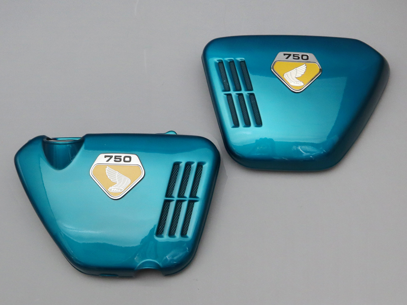 CB750 K0 COVER SET, SIDE (CANDY BLUE GREEN) FRP