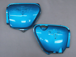 CB750 K1 COVER SET, SIDE (CANDY BLUE GREEN)