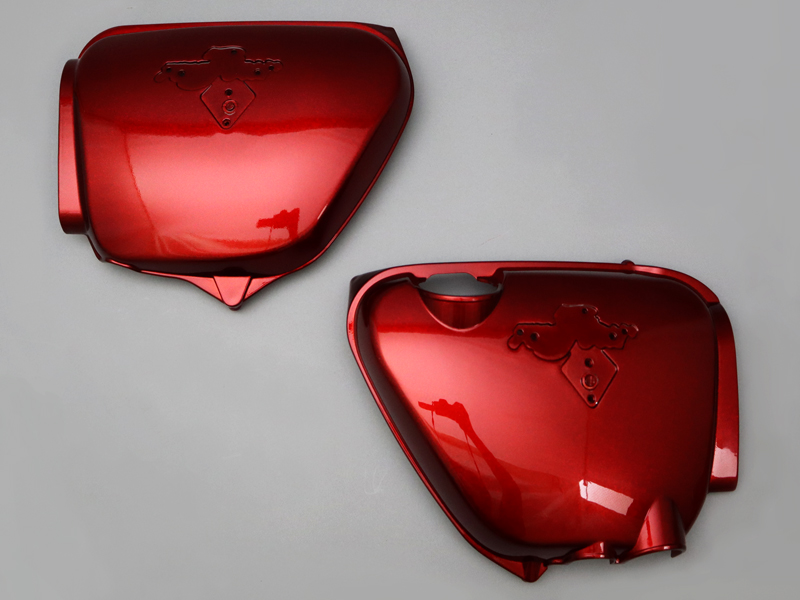 CB750 K5 COVER SET, SIDE (FLAKE APRICOT RED)