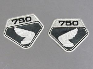 CB750 K0 EMBLEM PATCH SET (BLACK)