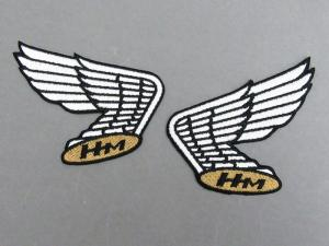 HM BLACK EMBLEM PATCH SET (OLD WING)