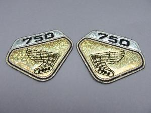 CB750 K0 EMBLEM PATCH SET (GOLD LAME)