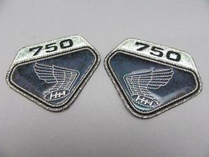 CB750 K0 EMBLEM PATCH SET (BLACK LAME)