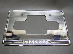 CB750K CB400F HONDA PLATE, NUMBER PLATE BACK (CHROME)