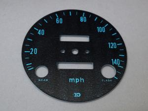 CB750 K0 DIAL FACE, SPEEDOMETER (mph)