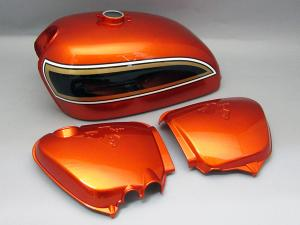 CB750 K6 TANK & SIDE COVERS SET (FLAKE SUNRISE ORANGE)